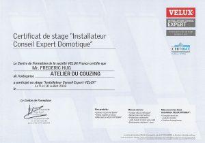 Certificat Vélux F.Hug